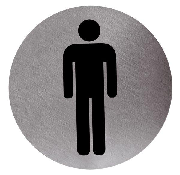 Cartel baño hombre adhesivo - Cimetres