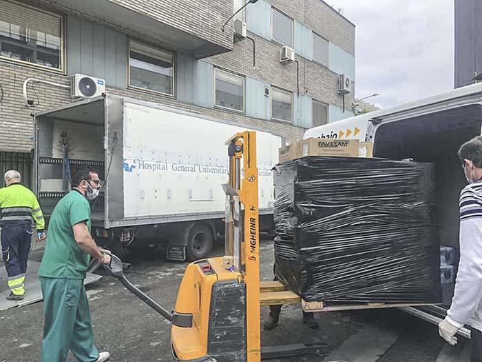 cimetres dona material proteccion gregorio marañon