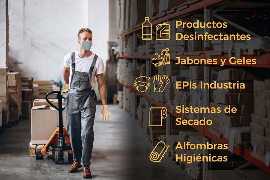 productos desinfectantes y EPI proteccion laboral